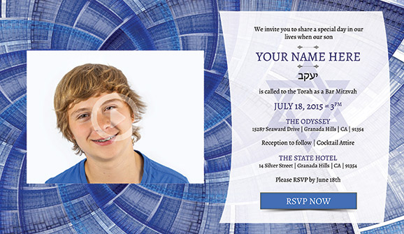Online Bar Mitzvah Video Invitation: Abstract