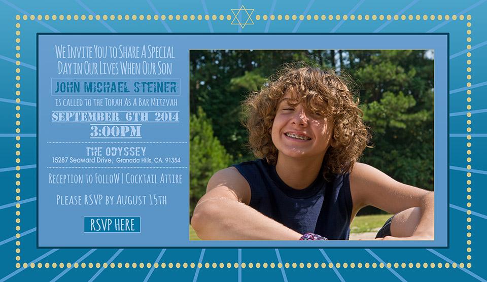 Online Bar Mitzvah Photo Invitation Billboard